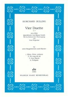 Vier Duette (Gesang und Klavier)