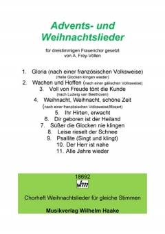 Advents- und Weihnachtslieder (Frauenchor 3st)