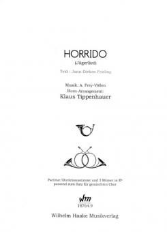 Horrido (Bläserstimmen)