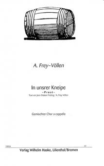 In unsrer Kneipe (gemischter Chor)