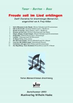 Freude soll im Lied erklingen (Männerchor 3st)