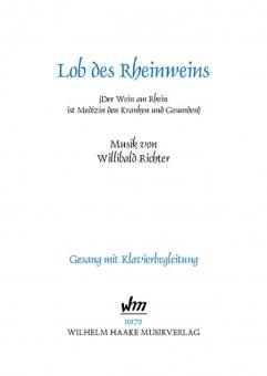 Lob des Rheinweins (Gesang und Klavier)