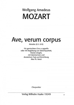 Ave, verum corpus (gemischter Chor)