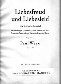 Liebesfreud und Liebesleid (Männerchor 3st.)