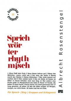 Sprichwörter rhythmisch (Partitur)