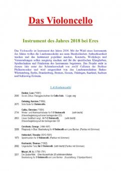 Instrument des Jahres 2018 (Violoncello)