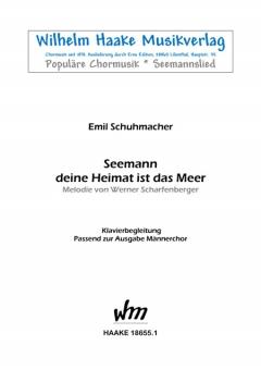 Seemann, deine Heimat... (Klavier)