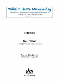 Herr Wirt! (Männerchor)