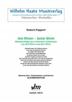 Am Rhein - beim Wein (Männerchor / Klavier)