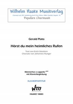 Hörst du mein heimliches Rufen (Männerchor / Klavier)