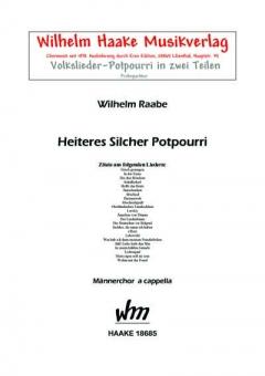 Heiteres Silcher-Potpourri (Männerchor)