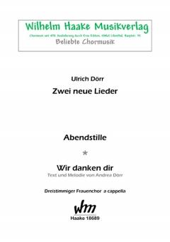 Zwei neue Lieder (Frauenchor 3st)