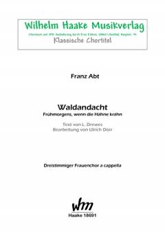 Waldandacht (Frauenchor 3st)