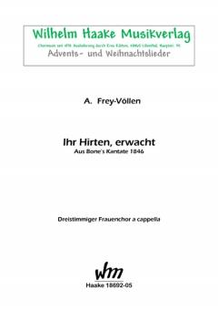 Ihr Hirten, erwacht (Frauenchor 3st)