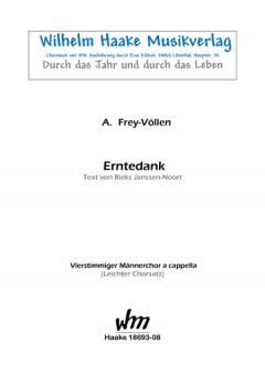 Erntedank (Männerchor)