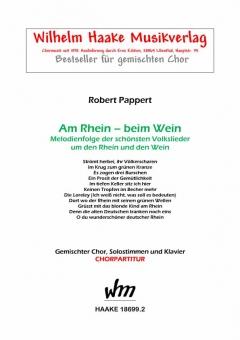Am Rhein - beim Wein (gemischter Chor)