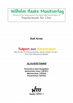 Tulpen aus Amsterdam (Klavierbegleitung)
