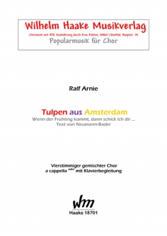 Tulpen aus Amsterdam (gemischter Chor)