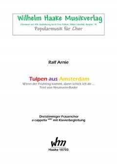 Tulpen aus Amsterdam (Frauenchor 3st)