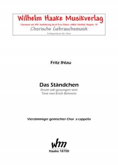 Das Ständchen (gemischter Chor)