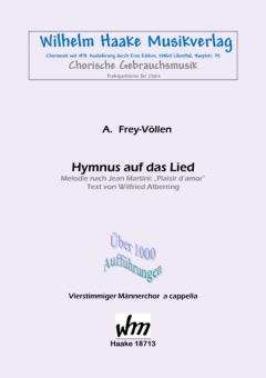 Hymnus auf das Lied (Männerchor)