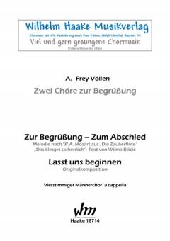Zur Begrüßung  - Zum Abschied (Männerchor)