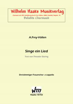 Singe ein Lied (Frauenchor 3st)