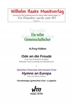 Hymne an Europa (gemischter Chor)