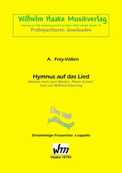 Hymnus auf das Lied (Frauenchor 3st)
