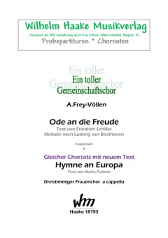 Hymne an Europa (Frauenchor 3st)