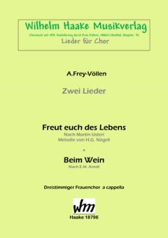 Freut euch des Lebens (Frauenchor 3st)