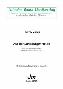 Auf der Lüneburger Heide (Frauenchor 3st)
