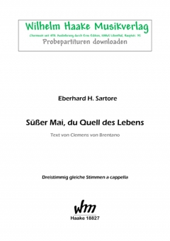 Süßer Mai, du Quell des Lebens (Frauenchor 3st)