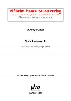 Glückwunsch (gemischter Chor)