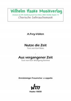 Aus vergangener Zeit (Frauenchor 3st)