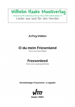 O du mein Friesenland (Frauenchor 3st)