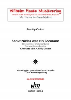 Sankt Niklas war ein Seemann (gemischter Chor-Klavier)