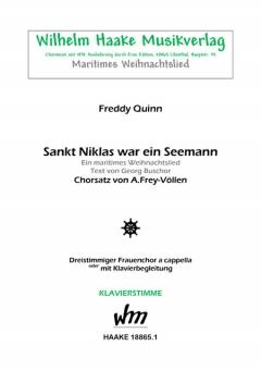 Sankt Niklas war ein Seemann (Klavierstimme Frauenchor 3st)