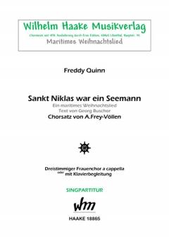Sankt Niklas war ein Seemann (Frauenchor 3st)