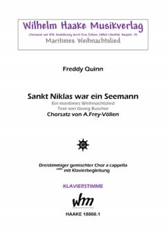 Sankt Niklas war ein Seemann (Klavierstimme gemischter Chor 3st)