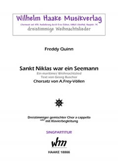 Sankt Niklas war ein Seemann (gemischter Chor 3st)