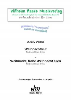 Weihnacht, frohe Weihnacht allen (Frauenchor 3st)