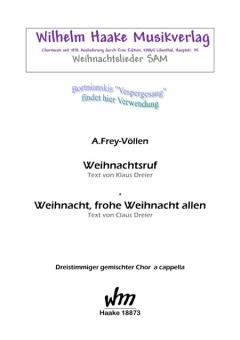 Weihnachtsruf (gemischter Chor 3st)