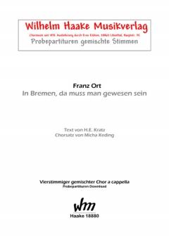 In Bremen, da muss man gewesen sein (gemischter Chor)