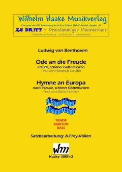 Hymne an Europa (Männerchor 3st)
