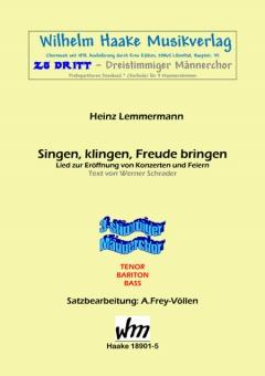 Singen, klingen... (Männerchor 3st)