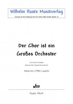 Der Chor ist ein großes Orchester (MChor)