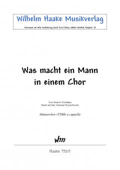 Was macht ein Mann in einem Chor (MChor)