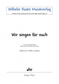 Wir singen für euch (Männerchor)