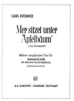 Mer sitzet unter Äpfelbäum' (Männerchor-Tenor1)